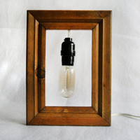 extraordinary wood frame lamp