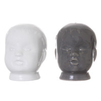 Creepy Doll Heads Salt & Pepper