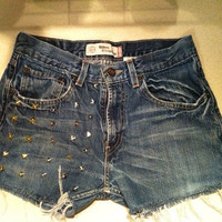 Custom High Waisted Levi Denim Shorts
