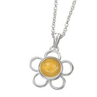 Back to Schol Round Wire Flower Pendant