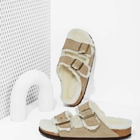 Birkenstock Arizona Shearling Suede Sandals
