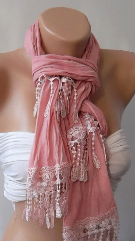 Gorgeous Pink / Elegant - Feminine / Shawl / Scarf...