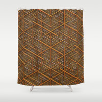 It's Gold Shower Curtain by Lyle Hatch