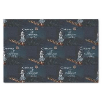 Alice in Wonderland Curiouser Santa Tissue Paper