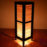 Thai Vintage lamps Bamboo Blind House Lighting and Holiday Decoration