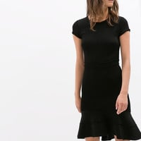 DRESS WITH LAYERED SKIRT