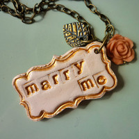 Marry Me Necklace - Poor Man Diamond Ring