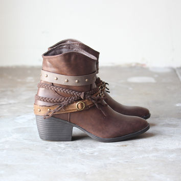 skye western bohemian booties bootie fall winter women's boots boot shoe shoe game boho chic babe gypsy hippie southern cowboy indie fashion