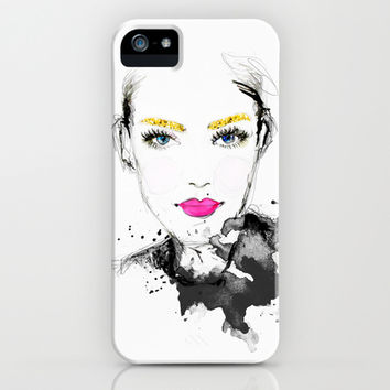 The Golden Girl iPhone & iPod Case by Sara Eshak