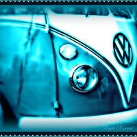 Blue VW Bug Digital Art