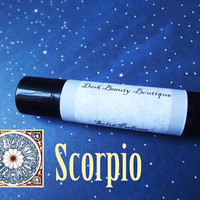 Solid Perfume - Scorpio - Astrological Perfume Crème Jar or Stick - Amber, Blackberry, Egyptian Musk, and Chocolate