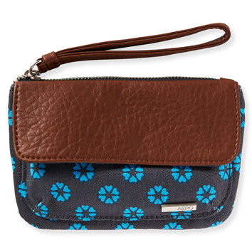 Aeropostale Heart Flower Wristlet - Black, One