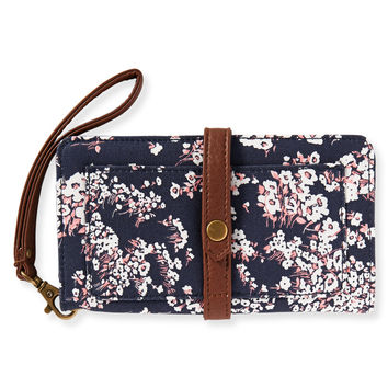Aeropostale Floral Bifold Wallet - Classic Navy, One
