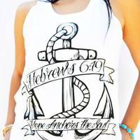 JCLU Forever Christian t-shirts  006-HOPE ANCHOR TANK-Christian T-Shirt