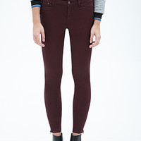 Low-Rise - Zippered Skinny Jeans