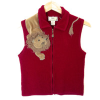 You Know I Aint Lion About This Boiled Wool Ugly Vest
