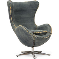 Zuo Modern Winchester Armchair in Blue Denim