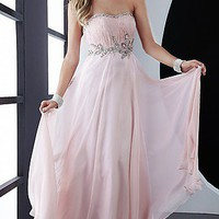 Strapless Chiffon Prom Dress by Jasz 4555