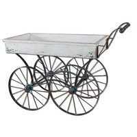 Generosa Distressed Flower Cart