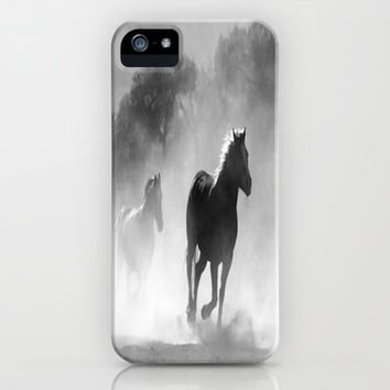 Horses  iPhone & iPod Case by Gracy Dreamscape