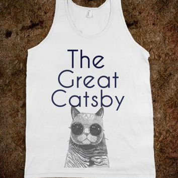 The Great Catsby Tank-Unisex White Tank