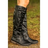 Anything Goes Boots-Black