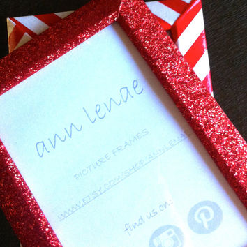 Ruby Red Glitter Picture Frame | Tape Covered Photo Frame