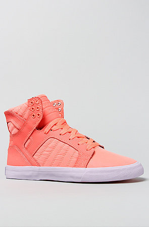 The Skytop Sneaker in Neon Coral
