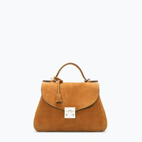 Soft leather bowling bag