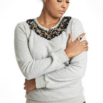 Embellished Sweatshirt – Elizabeth Smith Boutique