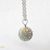 Colours of Spring Necklace - Chrysolite Opal Swarovski Crystal Necklace - NEW - Spring 2012