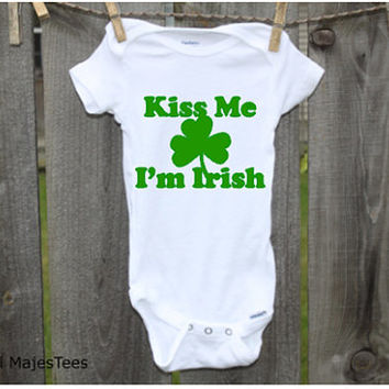 Kiss Me I'm Irish Onesuits®, Irish Baby, Toddler, kids