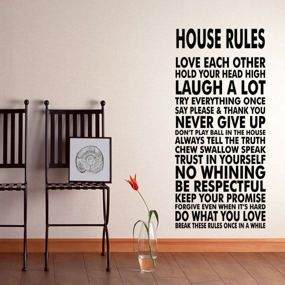 house rules wall decal sticker we do art from happy wallz wall
