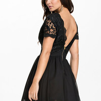 Scalloped Lace Prom Dress - Club L - Black - Party Dresses - Clothing - Women - Nelly.com