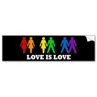 Love is Love Bumper Stickers from Zazzle.com