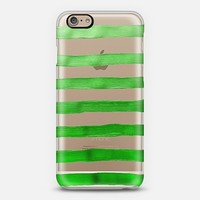 Jolly Green Stripes (transparent) iPhone 6 case by Lisa Argyropoulos   Casetify