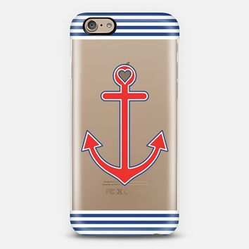 Classic Nautical Love Transparent iPhone 6 case by Organic Saturation | Casetify