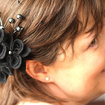Romantic Black Fascinator