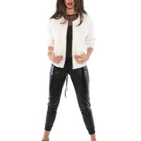 Jaquard Bomber Jacket - Outerwear - Apparel | Sexy Clothes Womens Sexy Dresses Sexy Clubwear Sexy Swimwear | Flirt Catalog