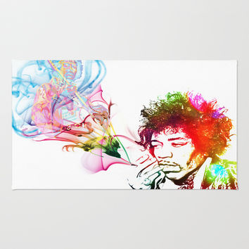 Jimi Hendrix Rug by D77 The DigArtisT