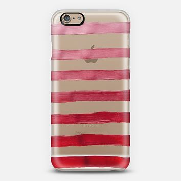 Custom protective phone case using Instagram & Facebook photos by Casetify - Holly Berry Stripes iPhone6 Case by Lisa Argyropoulos