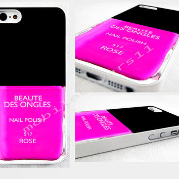 pink nail polish phone cover iPhone 4,4s 5,5s 5C,6,6 plus, available for samsung galaxy, galaxy mini