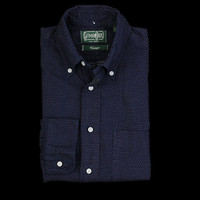UNIONMADE - gitman vintage - Dotted Button Down in Navy