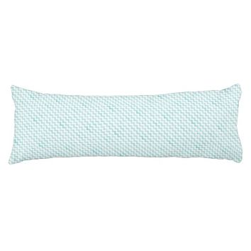 Aqua Glitter Chevron Body Pillow