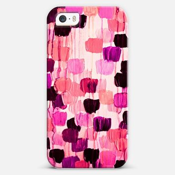 DOTTY IN CORAL AND AUBERGINE - Bold Violet Eggplant Plum Purple Pink Magenta Peach Polka Dots Girlie Pattern Abstract Acrylic Painting iPhone 5s case by Ebi Emporium | Casetify