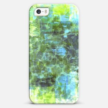 PASTEL JUNGLE 2 - Colorful Nature Green Turquoise Blue Animal Print Chic Trendy Stylish Girly Abstract Acrylic Painting Pretty Whimsical Splash Art iPhone 5s case by Ebi Emporium | Casetify