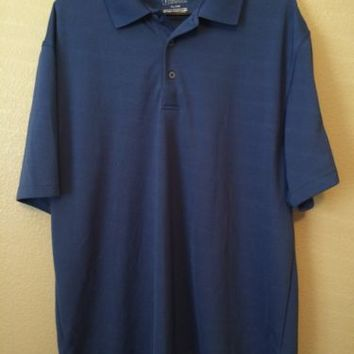 PGA TOUR GOLF MENS XL LIGHT BLUE POLO RUGBY SHIRT SHORT SLEEVE- MID SUMMER GOLF