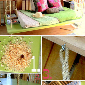 DIY: Hanging Outdoor Bed