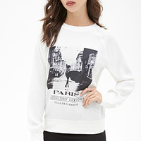 Paris Graphic Crepe Sweatshirt