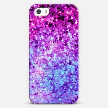 RADIANT ORCHID GALAXY - Cosmic Ombre Abstract Colorful Sparkle Purple Lilac Lavender Plum Violet Stars Galactic Chic Cosmos Whimsical Painting iPhone 5s case by Ebi Emporium | Casetify